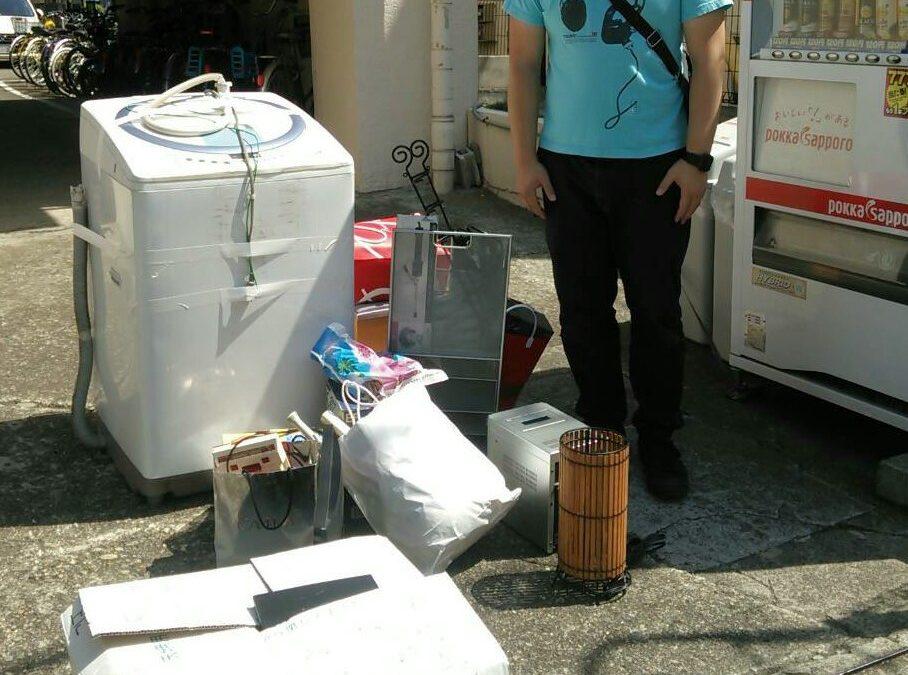 足立区 洗濯機とコンポの回収