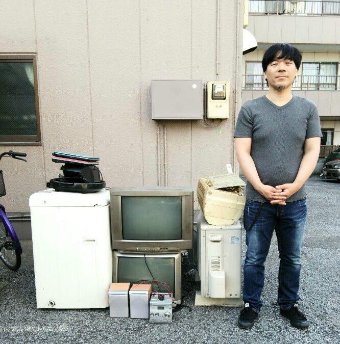 足立区 ブラウン管テレビの回収とエアコン取り外し