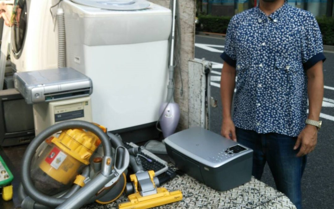 中央区と墨田区 洗濯機、ブラウン管テレビなどの回収