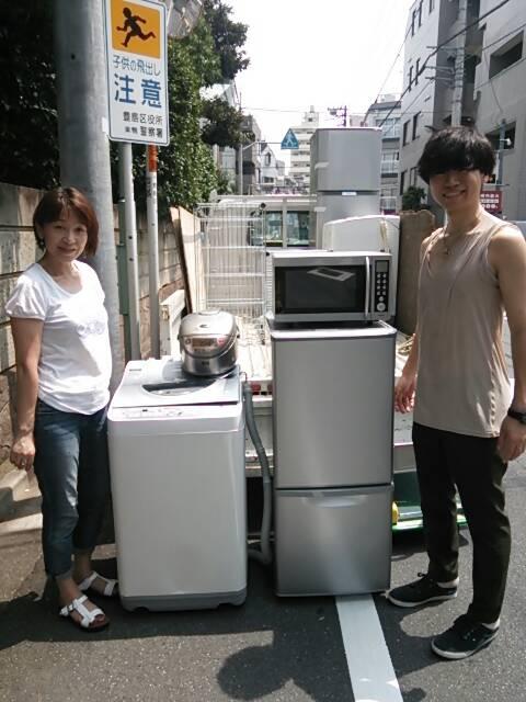 豊島区 冷蔵庫と洗濯機の回収