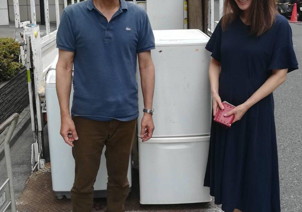 練馬区と中央区 冷蔵庫、洗濯機などの回収