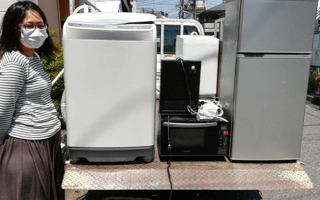 大田区と台東区 冷蔵庫と液晶テレビなどの回収