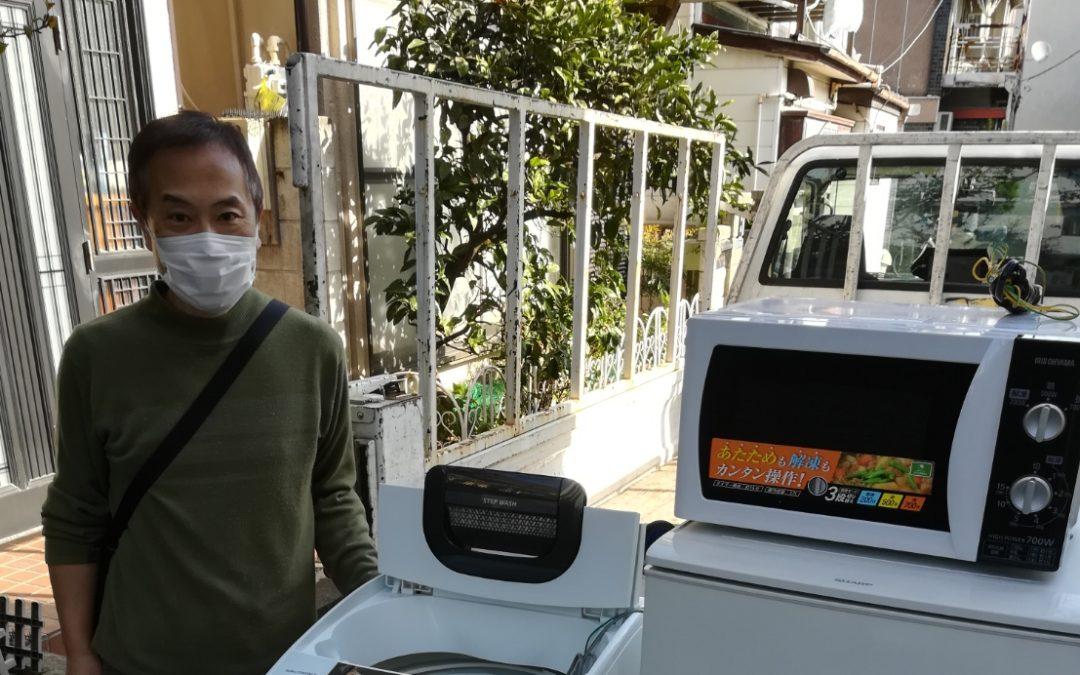 葛飾区と品川区  冷蔵庫や洗濯機など回収