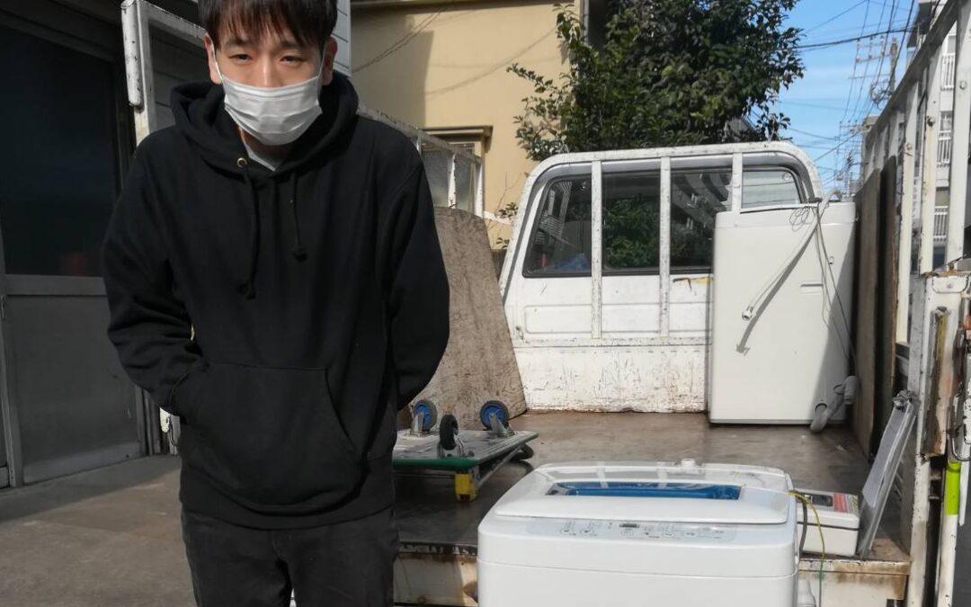 品川区と中野区 洗濯機の回収